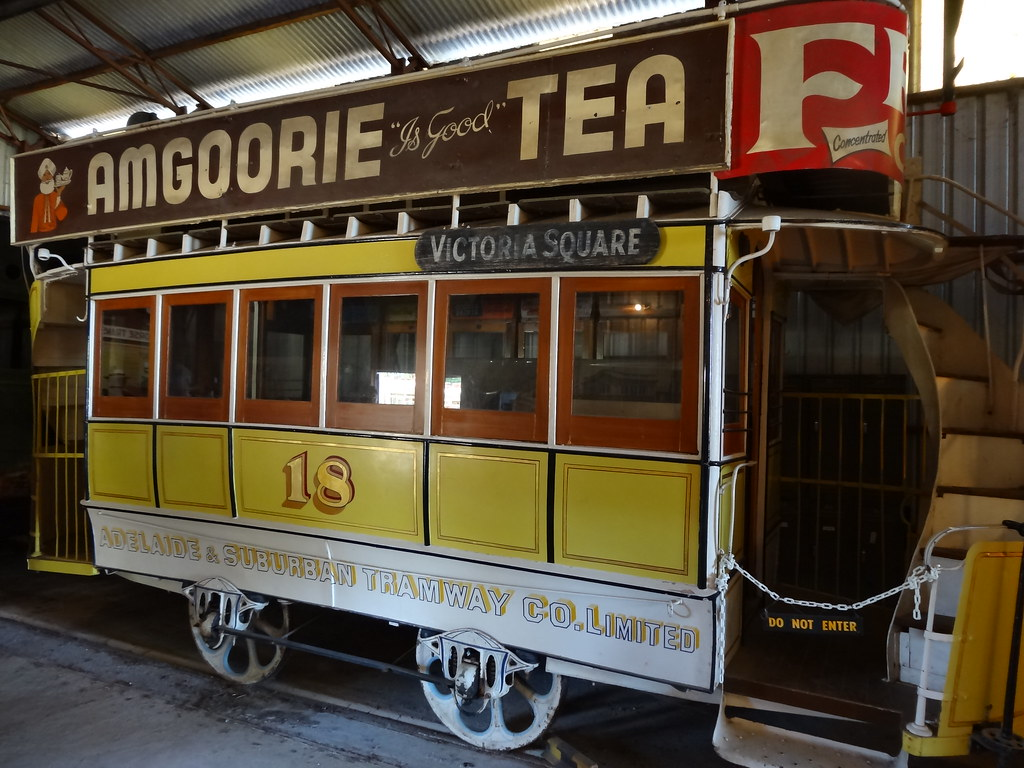 St Kilda. Trams the the Tram Museum.