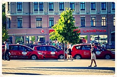 Red Taxis of Riga (bobbex) Tags: latvia baltic balticstate easterneurope