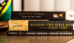 Current Reads (L.Grey Photography) Tags: canon rebel 50mm reading book borg faith mother indoor books read teresa christianity episcopal sl1 thompsett