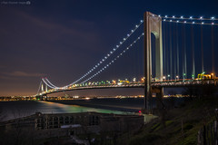 The Verrazano and Ft Wadsworth (RyanKirschnerImages) Tags: city nyc newyorkcity bridge ny newyork brooklyn statenisland verrazanobridge fortwadsworth