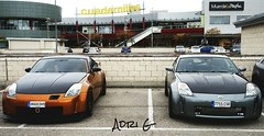 "Nissan 350Z y Nissan ""700Z"" en la KDD de Alacal de Henares, Madrid, Espaa. (Adry-Photgraphy) Tags: madrid nissan 350z jdm nismo z33 biturbo 700z"
