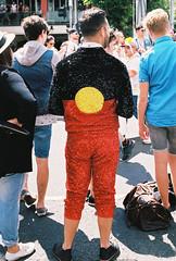 Pride & Equality in sparkles (Katie Tarpey) Tags: film 35mm costume respect australia melbourne pride sparkle nikonfm10 sequins equalrights equality kodakportra400 nikkor50mm14 aboriginalflag pridemarchmelbourne sequinsuit indigenousflag flagsuit pridemelbourne pridemarchmelbourne2016