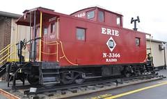 Cheektowaga, New York (1 of 2) (Bob McGilvray Jr.) Tags: railroad red ny newyork train parkinglot nw display steel tracks caboose cupola static erie norfolkwestern cheektowaga