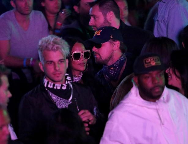 Mais uma vez, Rihanna e Leonardo DiCaprio aparecem juntos em festa