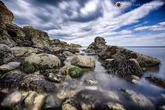Whitburn, North East (Silent Eagle  Photography) Tags: longexposure blue sea sky plants white seascape water clouds canon photography yahoo google rocks silent eagle outdoor wave lee sep northeast nube whitburn flipboard leefilters silenteaglephotography silenteagle09