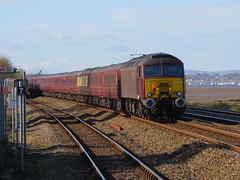 Class 57s on Tour (Stapleton Road) Tags: railway railtour dawlishwarren 57313 57315 cornishexplorer