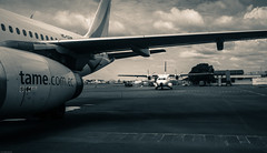 Coca Airport (iSteven-ch) Tags: travel canon ecuador airport amazon aircraft airbus jetengine coca tame occ ec orellana eos6d franciscodeorellana hccgw