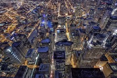 Above Chicago (karinavera) Tags: above city longexposure travel urban chicago building tourism up night cityscape view destination exploration willis nikond5300