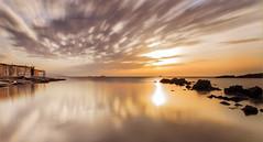 Amaneciendo (carmenvillar100) Tags: seascape dawn mediterraneo tokina ibiza panoramica eivissa d90 goldendawn saxanga procesadomultiple tallerjosebeut