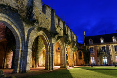 The old monastery (marko.erman) Tags: blue light france colors beautiful architecture night buildings long exposure sony romance monastery hour romantic bluehour extrieur btiment abbaye vaux cernay vauxdecernay
