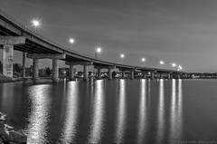 casco bay bridge (paul noble photography) Tags: longexposure nightphotography bridge blackandwhite monochrome reflections nikon awesome maine newengland f10 northeast vacationland southportland mainecoast sopo blackandwhitephotography cascobay 2470f28 altanticocean southportlandmaine cascobaybridge nikon2470mmf28 visitmaine nikond7000 mainephotographers paulnoblephotography freelancephotographersinportlandmaine paulnoblephotographer monochromenightphoto