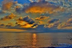 atardecer pacfico (Pedro Pablo Orozco) Tags: sol atardecer mar colombia cielo nubes sole litoral ocaso pacfico poniente horizonte ocano ocanopacfico
