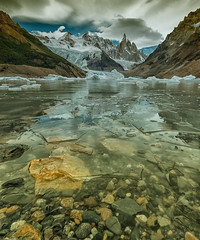 Frozen Lake --- Frozen Soul ( (Ping...) Tags: mountain ice frozen rocks stones clear soul iceberg frozenlake floatingice cerrotorre patagoina patagoinaargentina