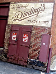Dimling's Candy Shops, Pittsburgh, PA (Robby Virus) Tags: sign alley pittsburgh candy pennsylvania ghost signage shops dimlings itsfresher