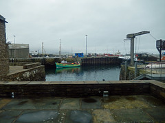 Stromness Harbour, 2016 Mar 22 -- photo 1 (Dunnock_D) Tags: uk sea sky cloud boats grey scotland orkney cloudy unitedkingdom harbour stromness paved