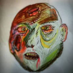Crayola zombie. #zombie #zombieart #nomakeupselfie #undead... (nathanrobinson2) Tags: zombie undead crayons crayola colouringin zombieart uploaded:by=flickstagram nomakeupselfie instagram:photo=1098480023886889650184137303