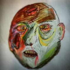 Crayola zombie. #zombie #zombieart #nomakeupselfie #undead... (nathanrobinson2) Tags: zombie undead crayons crayola colouringin zombieart uploaded:by=flickstagram nomakeupselfie instagram:photo=1098480023886889650184137303