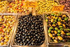 20160418 Provence, France 02390 (R H Kamen) Tags: food france marseille label olives variety abundance pricetag inarow provencealpesctedazur westernscript lacanebiere rhkamen