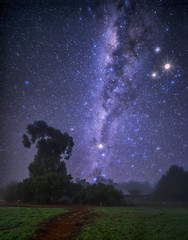 Misty Mikyway @ Balingup Heights Hilltop Forest Cottages (C.K.X) Tags: longexposure stars landscape nightshot australia astrophotography nightsky westernaustralia milkyway mikyway nikond810 zeissdistagon1528 balingupheights balingupheightshilltopforestcottages balingup