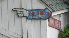 cold beer (timp37) Tags: white cold beer sign bar barn fence illinois farm n mini april pointing bolingbrook 2016