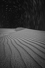 Star track (SaFranQ8) Tags: travel blackandwhite bw landscape photography star photo photographer desert kuwait saudiarabia sanddunes canon1740 canoneos6d