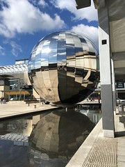 Reflections (dhaun) Tags: uk sky water clouds bristol mirror mirrorball 2016