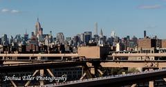 Manhatten (Joshua Eller) Tags: newyorkcity skyline cityscape brooklynbridge empirestatebuilding manhatten skyscrapper