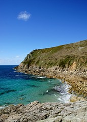 Cot Valley (Cornish Cactus) Tags: ocean sea sky cliff cloud seascape beach water rock landscape bay coast rocks cornwall waves crystal turquoise sunny bluesky glorious shore tropical kernow stjust cotvalley alpha580