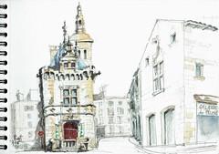 Niort, le Pilori (Croctoo) Tags: architecture watercolor aquarelle niort croquis poitou croctoo croctoofr