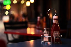 Essential condiments #ketchup #sauces #50mm #streetphotography #cafe #camdentown #canon700d (therave9991) Tags: 50mm cafe ketchup streetphotography camdentown sauces canon700d