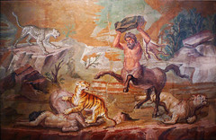 Pair of Centaurs Fighting Cats of Prey