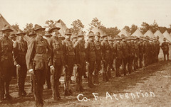 Company F Troops at Attention