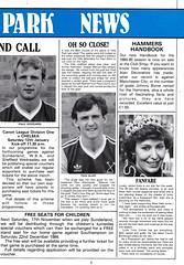 West Ham United vs Everton - 1984 - Page 5 (The Sky Strikers) Tags: park west hammer canon one official kodak united ham division league programme upton everton
