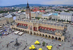 Krakow main square (Tech Pen) Tags: above city tower heritage tourism monument skyline buildings square europe cityscape view market famous poland krakow landmark panoramic medieval roofs viewpoint