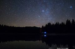 Taurus Rising (kevin-palmer) Tags: autumn sky reflection fall night dark stars october montana astrophotography astronomy campground taurus starry pleiades auriga 2013 kevinpalmer astrometrydotnet:status=solved chpaaqnpeak pentaxk5 samyang14mmf28 kreispond astrometrydotnet:id=nova1379375