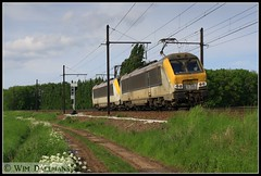NMBS / SNCB 1338-1323 Ekeren 31052013 (W. Daelmans) Tags: electric locomotive 13 alstom 1323 nmbs sncb 1338 hle