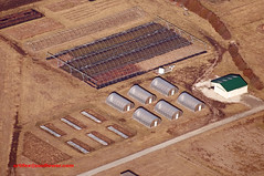 Greenhouses (Cessna 150 Pilot) Tags: aerialview aerial greenhouse aerialphotography