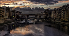 First light III (MarkWaidson) Tags: florence ponte vecchio