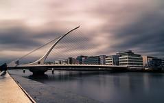 Dublin fair city (JanDeDe) Tags: longexposure bridge ireland winter dublin cold architecture europe cityscape filter calatrava harp beckett samuel nd1000 jandede