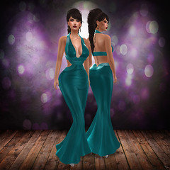 Farah - Turquoise ed. (.:TheBeautifulOnes:. Babs Draconia) Tags: wedding woman sexy beauty fashion women dress formal videogames gaming secondlife marketplace lame hud materials belleza shimmer physique hourglass tmp tbo longdress maitreya slink beautifulones groupgift meshgown lamedress meshclothes fitmesh themeshproject fittedmesh tboclothing slinkbodymesh