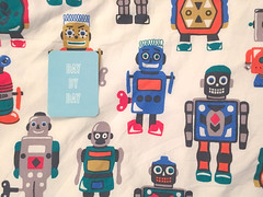 Take it day by day (18:366) (Lost Star) Tags: robots bedding cathkidston projectlife day18366 366the2016edition 3662016 18jan16