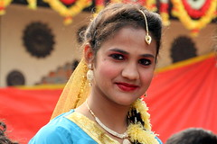 School Girl Performer waiting Back Stage (ramesh_lalwani) Tags: