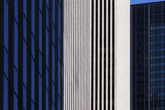 6th Ave (josullivan.59) Tags: nyc blue windows light shadow wallpaper urban panorama usa white newyork abstract detail texture geometric architecture day skyscrapers unitedstates manhattan january clear midtown minimalism 6thave lightanddark artisitic avenueoftheamericas 2016 3exp canon6d tamron150600