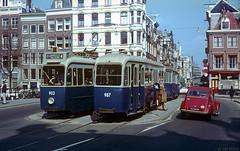 Fab Four (Tim Boric) Tags: amsterdam tram 2cv streetcar tramway keizersgracht strassenbahn utrechtsestraat gvb lijn4 drieasser threeaxle
