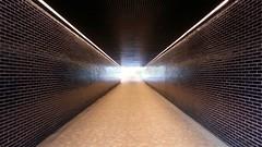 I see a light at the end of the tunnel . (  veig una llum al final del tnel ) (Alex Nebot) Tags: barcelona luz bcn samsung a5 paranoia pasillo sans llum barna pasadizo passadis fotomovil badal subteraneo