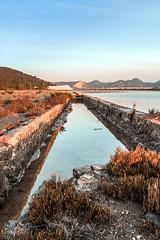 Salinas de Ibiza (ibzsierra) Tags: water azul canon canal agua salinas ibiza cielo 7d eivissa baleares saltwork aeu 1740usm