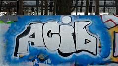 Den Haag Graffiti : ACID (Akbar Sim) Tags: holland netherlands graffiti acid nederland denhaag thehague agga mient akbarsimonse akbarsim