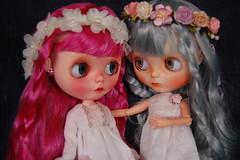 DSC_0083 (Lindy Dolldreams) Tags: pink blue winter girls dolls custom blythedoll mayragalland rosezie noraooakcustomblythe