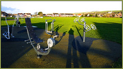 Them And Me 52 in 2016 Week #5 Shadows (bokosphotos) Tags: shadows swings panasonic sompting gh3 exercisemachines localpark panasonicgh3 dmcgh3 1235f28lens somptingrecreationground 52in2016 week5shadows taken7february2016 52in2016week5shadows 52in2016week5