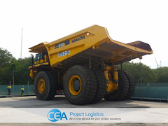 CEA Take Care of Komatsu's Big Boys! (CEA Project Logistics) Tags: port truck project indonesia thailand lift free dump cargo storage transportation shipping heavy trade komatsu zone asean logistics laem c0 cea consolidation chabang 830e wwwceaprojectscom